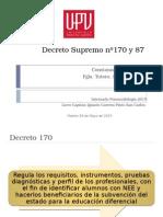 Decreto Supremo Nº170 y 87