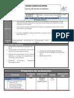 Plan y Programa de Evaluacion 2o 15 16