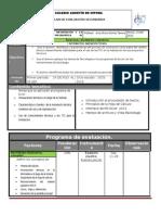 Plan y Programa de Evaluacion 3o 15 16