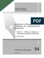Td 94 Ambiente e Energia Crenca e Ciencia No Licenciamento Ambiental