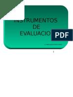 evaluación instrumentos