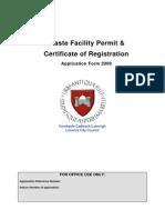 Waste Facility Permit Form
