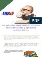 Niños Con Capacidades y Aptitudes Sobresalientes