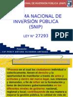 1. Conferencia - SNIP x UNASAM (Ing. CIP Percy Olivares) 33333