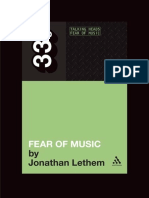 Fear of Music - Talking Heads - Jonathan Lethem