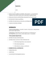 Proceso Psicodiagnóstico ENTREVISTA