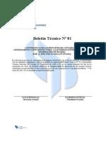 Boletín Técnico Nº 81