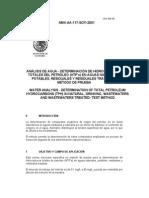 Determinacion de Htp's en Agua. Metodo de Prueba