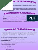 EXPERIMENTOS DETERMINISTICOS
