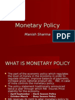 Monetary policy Quantative techniques