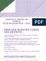 Presentación Curso 2015 - 2016