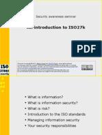 ISO27k Awareness Presentation