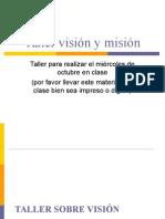 Taller Vision y Mision