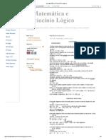 A Matemática e Raciocínio Lógico.pdf