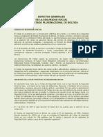 1 Aspectos Generales de La Seguridad Social Estado Plurinacional de Bolivia