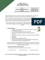 whitehead english 1 syllabus pre-ap