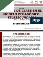 Taller El Plan de Clase en El Modelo Pedagógico Tele