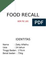 Food Recall Zaky