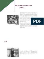 Historia de Cemento en Bolivia