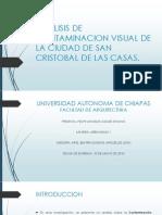 Análisis de Contaminación Visual San Cristobal de Las Casas.