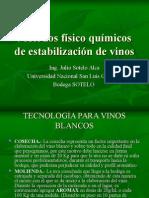 Estabilizacion de Vinos Blancos
