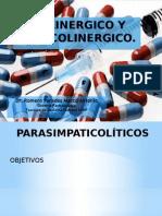 Farmacologia - Colinérgico y Anticolinérgico
