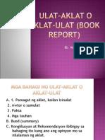 Ulat Aklat(Book Report)