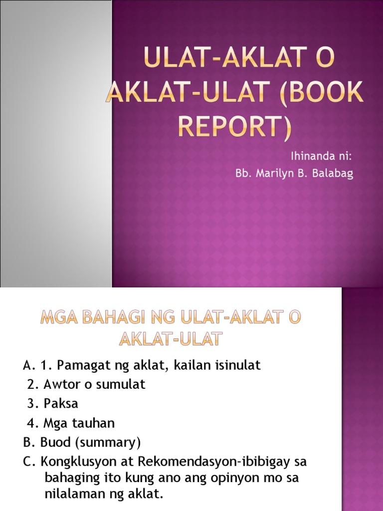 Paggawa ng book report