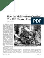 The Suppression of Fusion