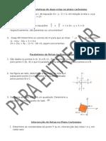 Posições Relativas de Duas Retas No Plano Cartesiano