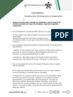 Cuestionario - Establecer La Infraestructura Tecnologica Por La Organizacion Actividad 1
