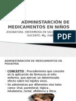 Administarción de Medicamentos en Niños