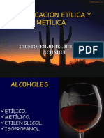 Alcohol Etilico y Metilico