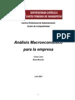 Analisis Macroeconomico de La Empresa - León y Miranda