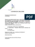 Convocação Reunião Ordinária 27.08.15