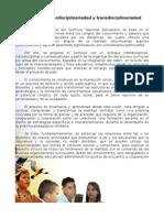 Currículo Interdisciplinariedad y Transdisciplinariedad
