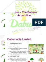 Dabur's Acquisition of Balsara by Tripti n Group