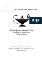 Grand Lodge of Free and Accepted Masons of Ohio - Entered Apprentice Course