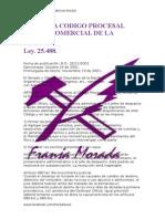 Reforma Codigo Procesal Civil y Comercial de La Nacion