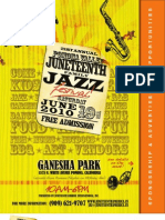 Sponsorship Package - Pomona Valley Juneteenth Family Jazz Festival 2010