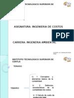 IngdeCostos 1raUnidad Introduccion Docente