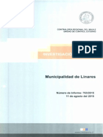 Informe de Investigacion Especial 763-15 Municipalidad de Linares Presuntas Irregularidades - Agosto 2015