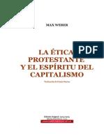 WEBER Max - La Etica Protestante y El Espiritu Del Capitalismo