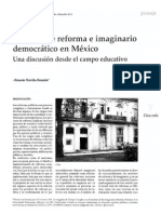 Treviño 2015 Politicas de Reforma e Imaginario Democratico