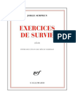 Exercices de Survie - Semprun, Jorge