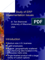 A Case Study of ERP Implementation Issues