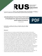 Interdisciplinary Process Driven Performative Morphologies