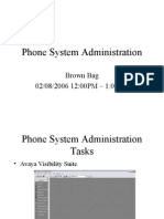 Voice System Administration Tasks