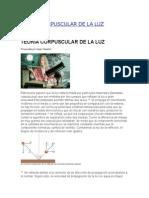 Teoría Corpuscular de La Luz