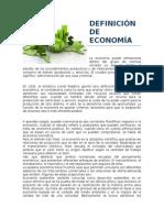 Definición de Economía.